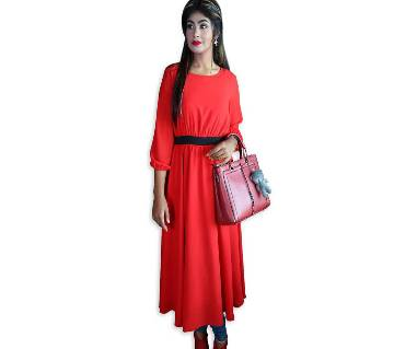China double georgette Western gown For Ladies