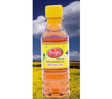 Priyo খাঁটি সরিষার তেল (৫০০ মিলি)