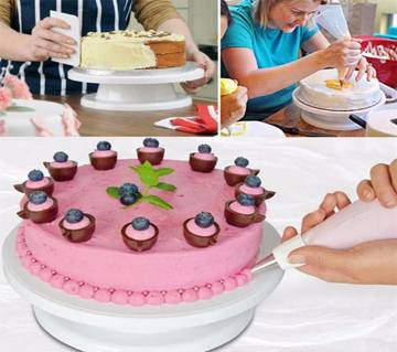 cake decorating turn table white