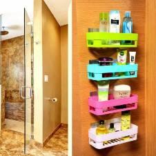 Bathroom rectangle Shelves set-4 pcs