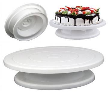 "11"" cake decorating Turn-Table white"