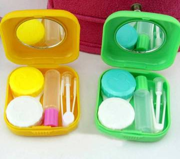 1pc Mini Mirror Contact Lens Travel Kit Easy Carry Case