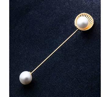 Pearl Ginkgo Biloba Brooch Pins For Women
