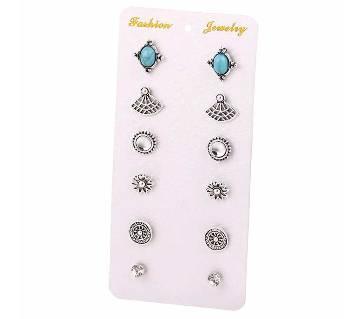 6 Pair Earrings Set