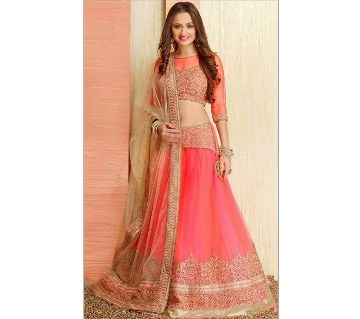 Un stitched Georgette lehenga -copy