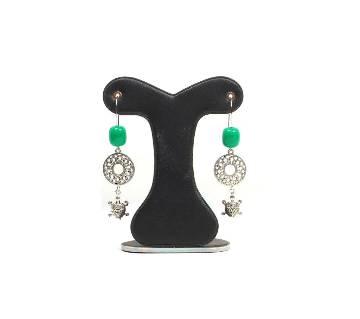 Green Stylish Indian Earring বাংলাদেশ - 7038501