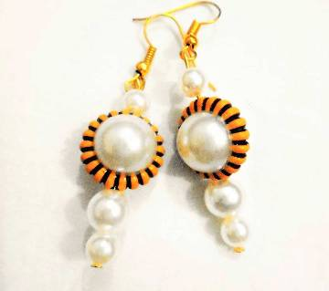 Artificial pearl setting earring