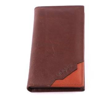 Long shape leather wallet