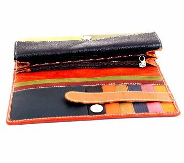 Ladies Long Shaped Leather Wallet