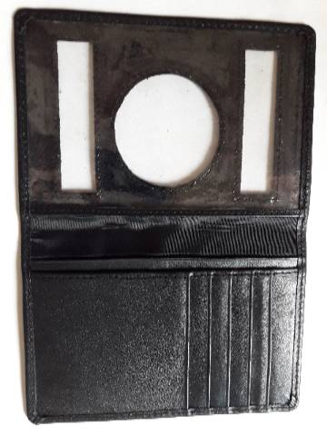 Gents Long Shaped Leather Passport Holder