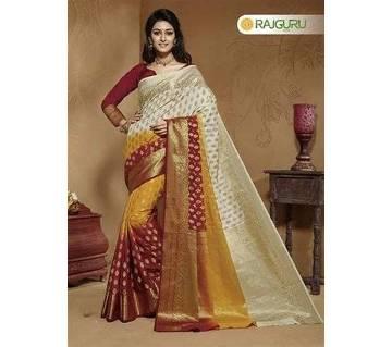 Rajguru Indian Silk Katan Sharee