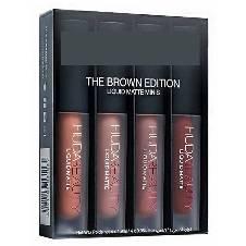 Huda Beauty Brown Edition লিপস্টিক- ৪পিসের সেট (মালয়েশিয়া)