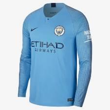 Manchester City Home লং স্লিভ রেগুলার জার্সি 2018-19