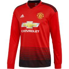 Manchester United Home Long Sleeve Regular Jersey 2018-19
