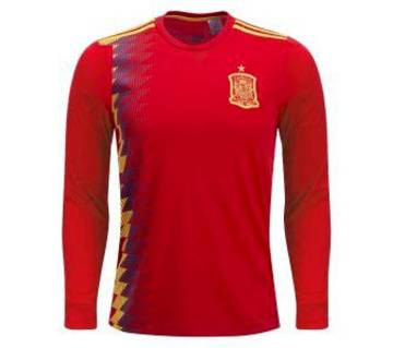 2018 World Cup Spain Full Sleeve Home Jersey (Copy)