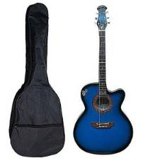 Combo Offer Signature Semi-Electric Acoustic Guitar - Blue