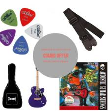 Givson Venus Super Semi Electric Acoustic Guitar blue