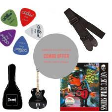 Givson Crown Super 2018 Acoustic Guitar - Black