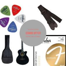 TGM Acoustic Guitar - Black