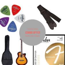 TGM Acoustic Guitar - sunbrass