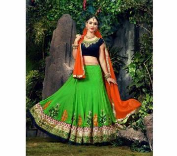 Indian Anarkali Semistitched Georgette Three-Pcs (Copy)