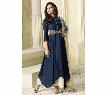 Anarkali Indian Semi-Stitched Georgette Three pcs