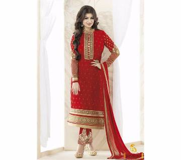 Unstitched Embroidery Design Georgette Three pcs - Copy