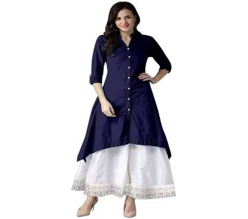 Ladies Stiched Kurti-Buttersilk