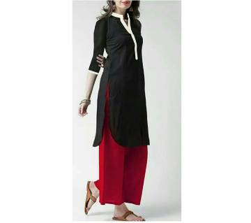 Ladies linen kurti and cotton palazzo