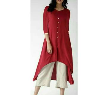Ladies linen kurti and palazzo