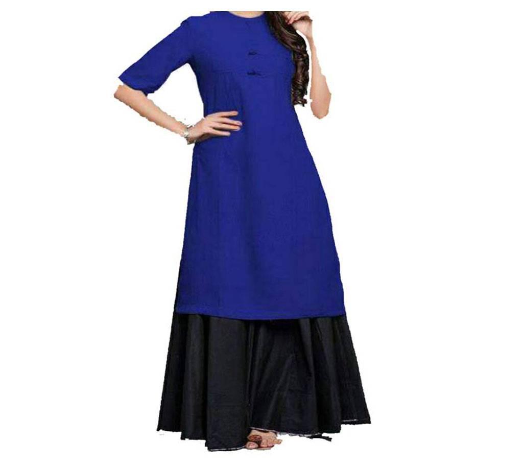 কটন স্টিচড কুর্তি ও স্কার্ট সেট বাংলাদেশ - 555255