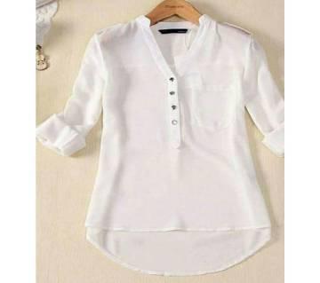 Ladies Stitched Linen Shirt