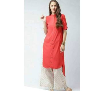 Ladies stitched long linen kurti