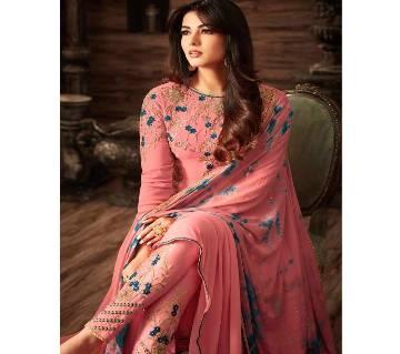 Un-stitched Georgette Embroidery Salwar Kameez (COPY)
