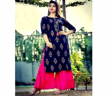 Latest Blue and pink 2 pieces Salwar Kameez for Women-free size