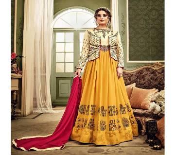 Un-stitched Embroidery Georgette Designer Anarkali Salwar Suit (Copy)