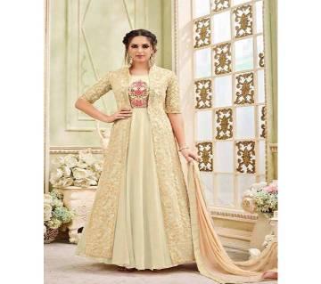 Un-stitched Embroidery Georgette Designer Anarkali Salwar Suit