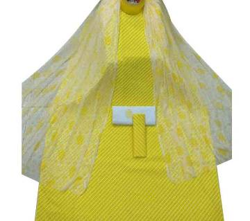 Unstiched Yellow Skin Printed Cotton 3 pieces