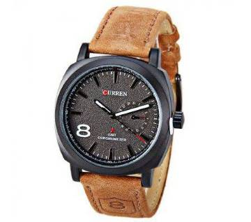 CURREN analogue dial water resistance gents casual wrist watch