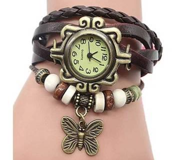 Ladies Bracelet Wrist Watch-Red