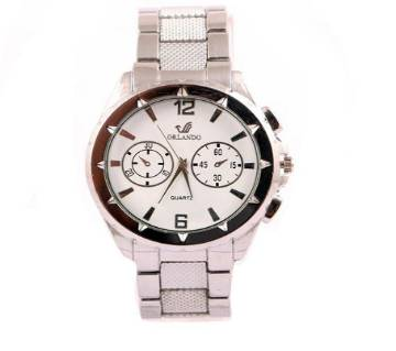 Stainless Steel Analog Watch for men-Copy