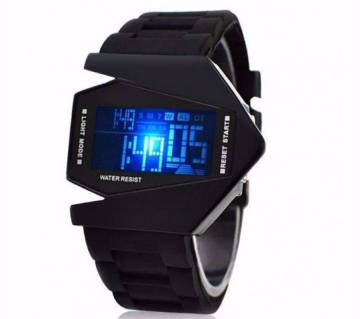 LED fighter watch-black