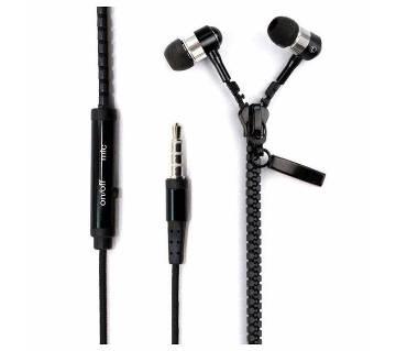 Zipper Style Earphone- black