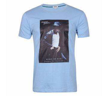 Michael Jackson printed round neck half sleeve gents t-shirt
