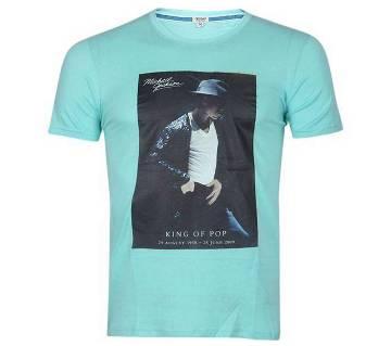 Michael Jackson printed round neck half sleeve gents t-shirt