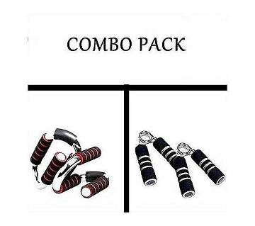 Pack of Push Up Bar and Hand Grips