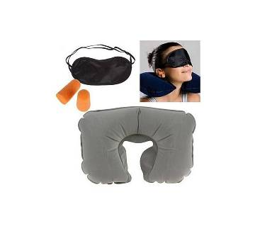 3 in 1 Travel Set - Neck Pillow, Eye Mask and Ear