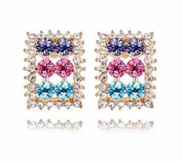 Multi color Stone setting Earring