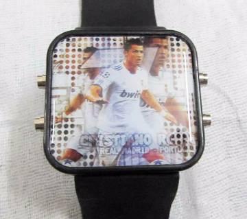 Ronaldo Theme Silicon Belt LED Wrist Watch