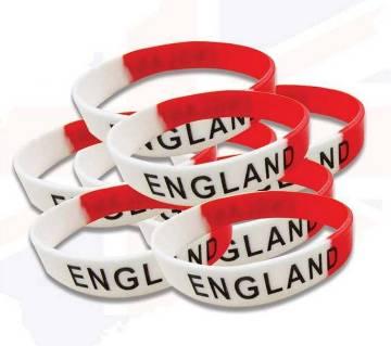England Fan Rubber রিষ্ট ব্যান্ড (10 Pieces Combo)
